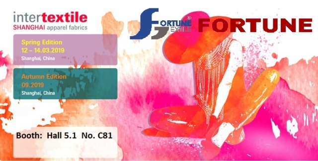2019 Intertextile Shanghai Apparel Fabrics - March 12-14